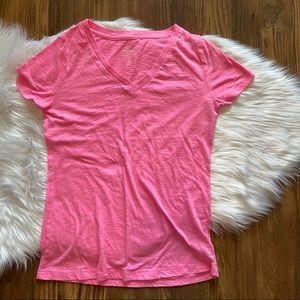 Mossimo bright pink short sleeve shirt